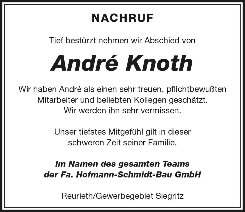 Nachruf_Andre_Knoth_Hofmann-Schmidt-Bau