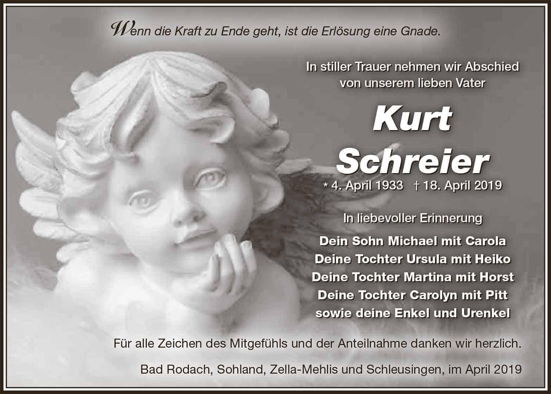 Trauer_Kurt_Schreier