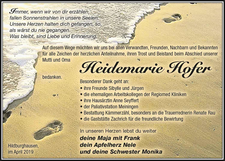 Danksagung_Heidemarie_Hofer