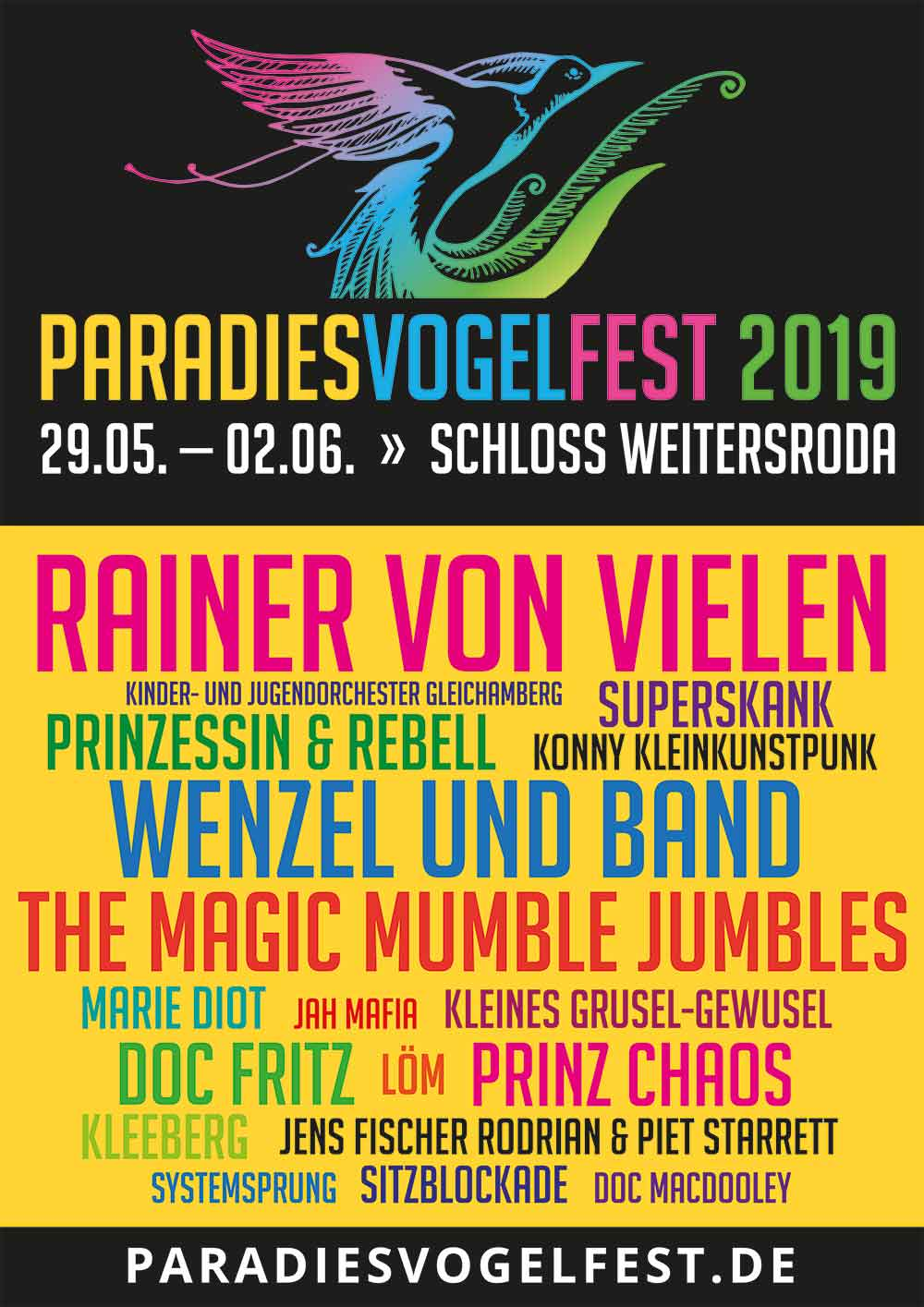 Paradiesvogelfest-Lineup