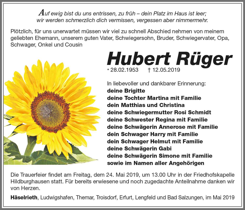 Trauer-Hubert-Rueger