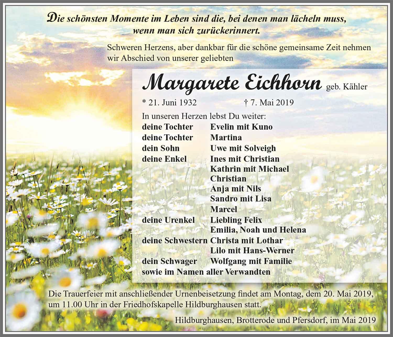 Trauer-Margarete-Eichhorn