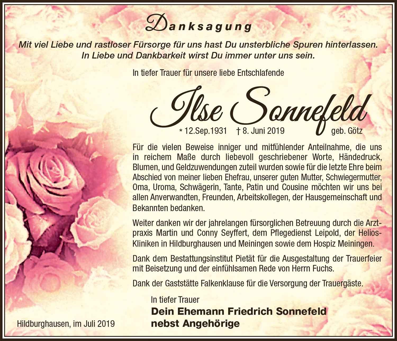 Danksagung_Ilse_Sonnefeld