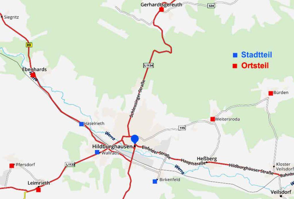 Karte-Hildburghausen-mit-Ortsteilen