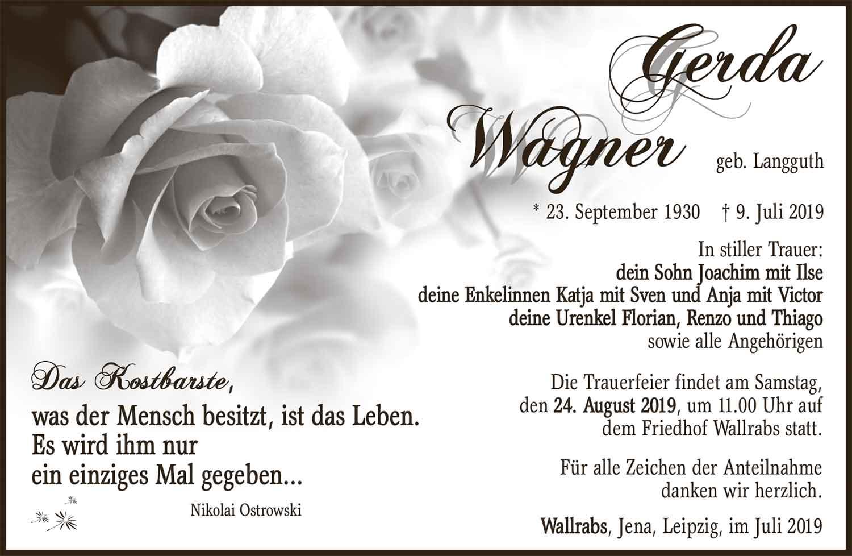 Traueranzeige_Gerda_Wagner