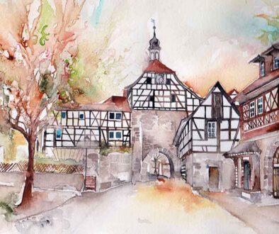 Mirjam-Gwosdek-Tordurchfahrt-Stadt-Heldburg