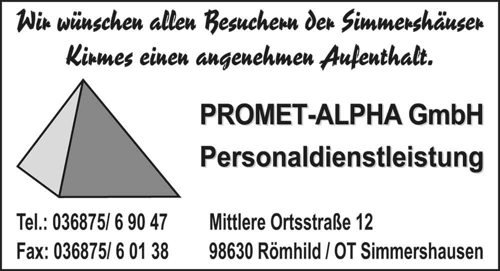 PROMET_ALPHA_GbR_Simmershausen