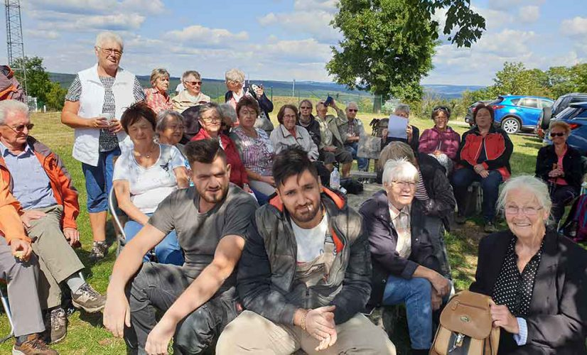 Stadtbergwanderung-Teilnehmer