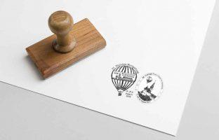 Wettbewerb-Ballonpoststempel