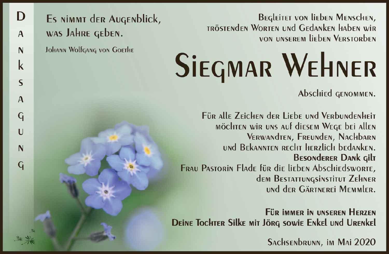 Danksagung_Siegmar_Wehner