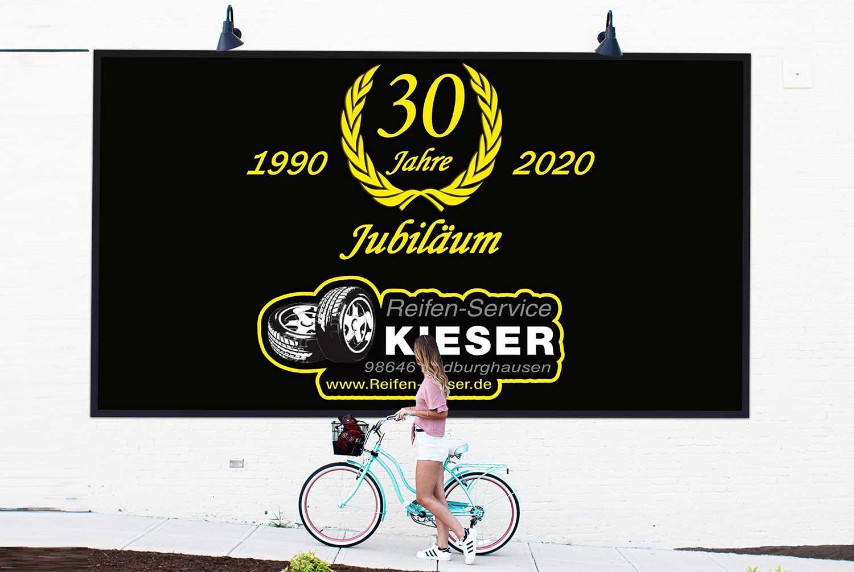 30 Jahre Reifen-Service KIESER GmbH – Wir sagen Danke!