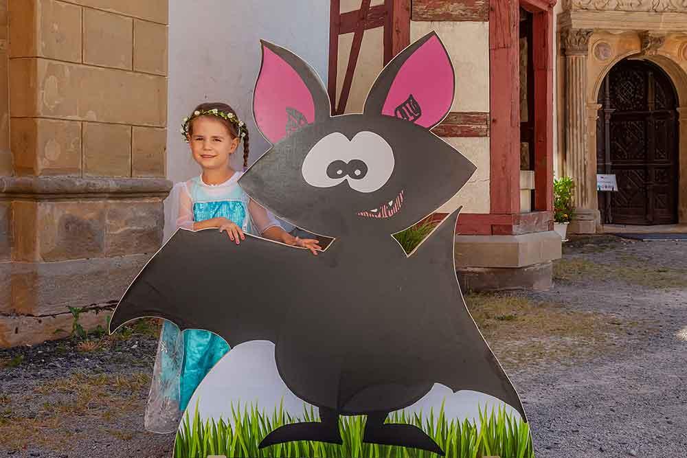 Treffen mit Fledermaus Hubsi auf der Veste Heldburg