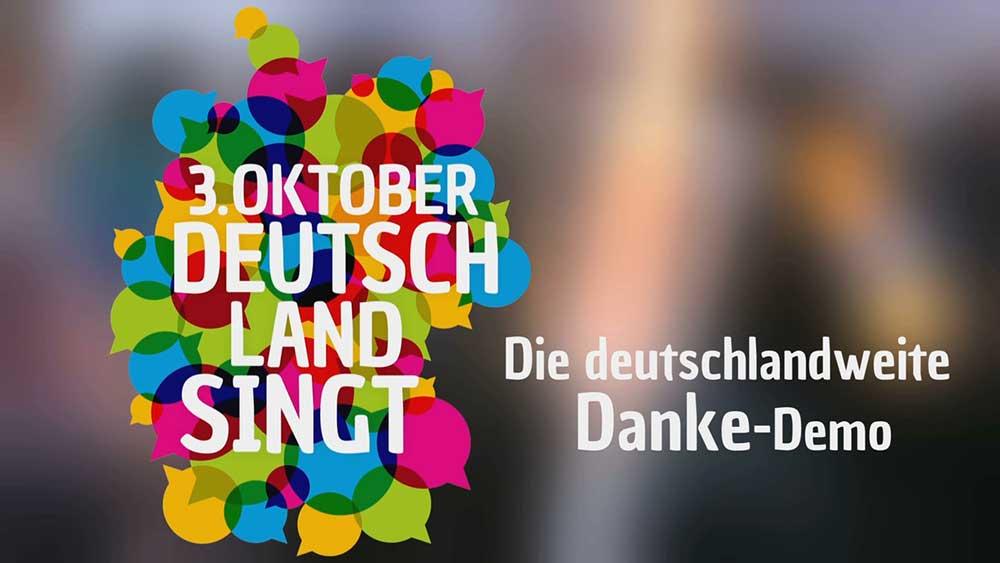 """""""3. Oktober – Deutschland singt"""" – Tag der Deutschen Einheit singend mitfeiern"""