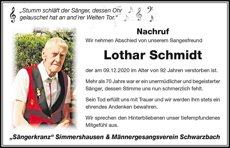 Nachruf_Lothar_Schmidt_Saengerkranz