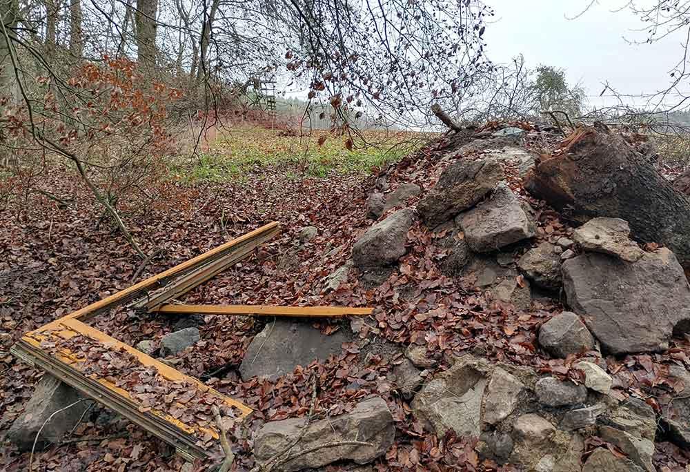 Illegale Müllentsorgung in den Wäldern Poppenhausens