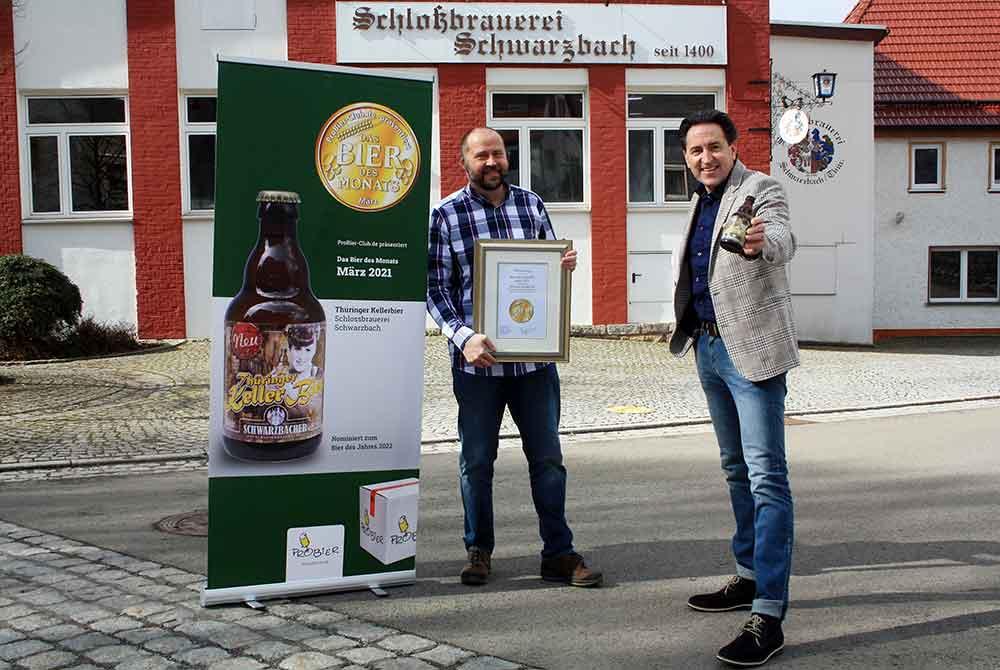 """Schlossbrauerei Schwarzbach: Auszeichnung für """"Thüringer Kellerbier"""" zum """"Bier des Monats"""""""