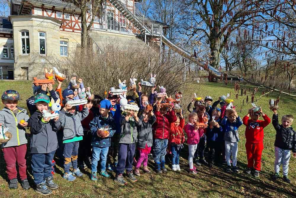 """Der Osterhase besuchte die """"Parkmäuse"""" in Hildburghausen"""