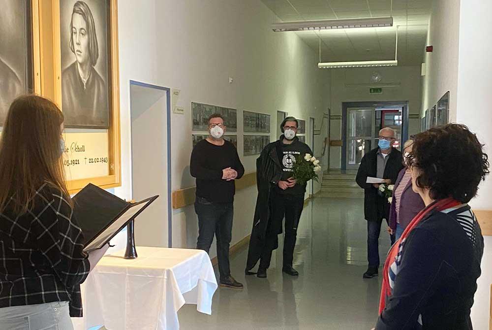 Erinnerung an Sophie Scholl anlässlich ihres 100. Geburtstages am Gymnasium Georgianum