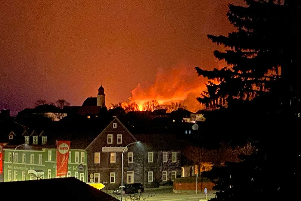Nach Großbrand in Eisfeld: Stadt Eisfeld sagt DANKE!