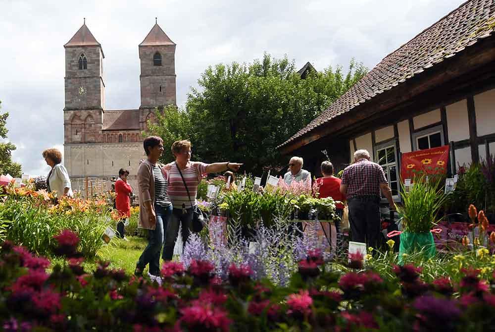 """""""Gartenmarkt"""" und """"Weisse Mönche"""" locken ohne Corona-Test am Wochenende nach Kloster Veßra"""