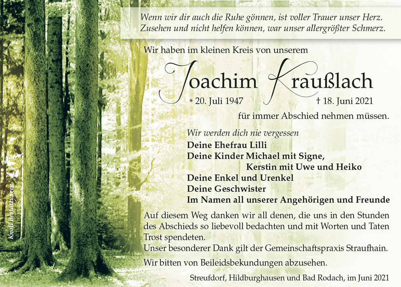 Trauer_Joachim_Krausslach