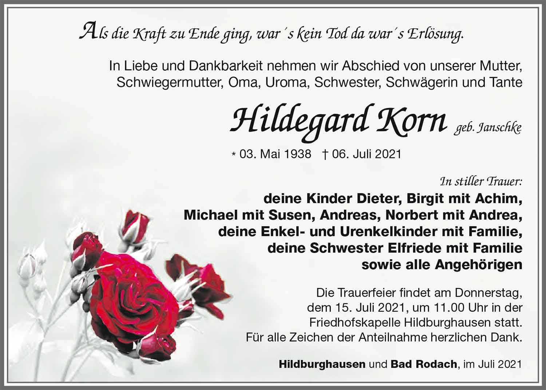 Trauer_Hildegard_Korn