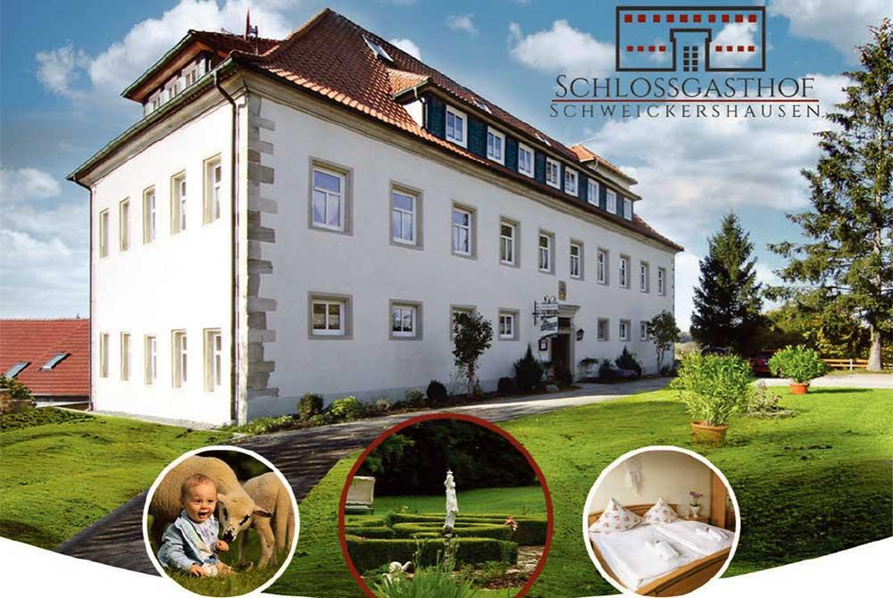 """""""Schlossgasthof Schweickershausen"""" vor Neueröffnung"""