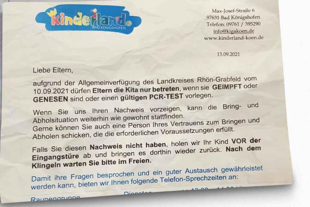 Schockierende Vorgehensweise des Kinderlandes Bad Königshofen