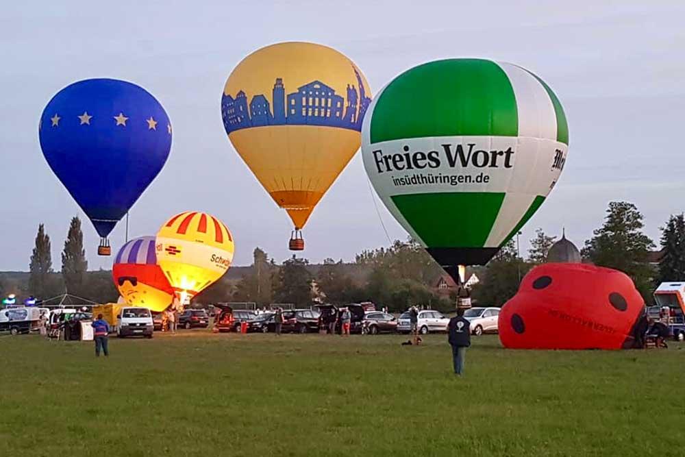 Es leuchtet sehr: Modellballone im Schleusinger Wilhelm Augusta Soziale Dienste gGmbH zu Gast